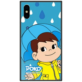 藤家 Fujiya iPhone XS 5.8インチ用 不二家 ガラスハイブリッド M. レイニーポコ