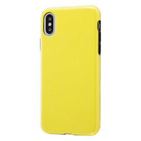 イングレム Ingrem iPhone XS 5.8インチ用 TPUソフトケース Colorap ラメ IN-P20CP1L/Y イエロー