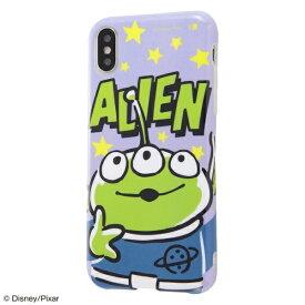 イングレム Ingrem iPhone XS 5.8インチ用 『ディズニー・ピクサーキャラクター』/TPUソフトケース Colorap IN-DP20CP1/AL 『トイ・ストーリー/リトル・グリーン・メン』