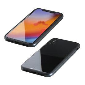 I-O DATA アイ・オー・データ 【ビックカメラグループオリジナル】iPhone XS 5.8インチ用 ガラス+TPU+アルミ複合素材ケース ブラック BKS-IP18STGGABK