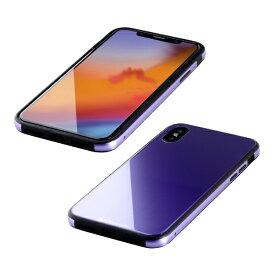 I-O DATA アイ・オー・データ 【ビックカメラグループオリジナル】iPhone XS 5.8インチ用 ガラス+TPU+アルミ複合素材ケース バイオレット BKS-IP18STGGAVL