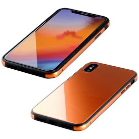 I-O DATA アイ・オー・データ 【ビックカメラグループオリジナル】iPhone XS 5.8インチ用 ガラス+TPU+アルミ複合素材ケース オレンジ BKS-IP18STGGAOR