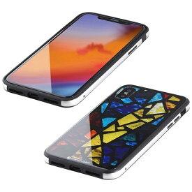 I-O DATA アイ・オー・データ 【ビックカメラグループオリジナル】iPhone XS 5.8インチ用 ガラス+TPU+アルミ複合素材ケース 2層印刷 ステンドグラス(マルチ) BKS-IP18STGGASMC
