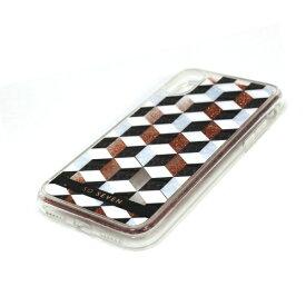 ROA ロア iPhone XS 5.8インチ用 FASHION CUBIC GLITTER OR ROSE
