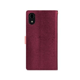 ROA ロア iPhone XR 6.1インチ用 CALF Diary ワインピンク