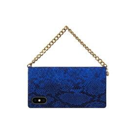 ROA ロア iPhone XS 5.8インチ用 Gold trim Wallet ブルー