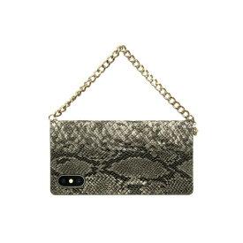 ROA ロア iPhone XS 5.8インチ用 Gold trim Wallet ベージュ