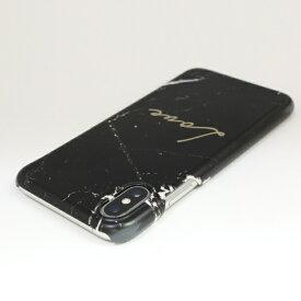 ROA ロア iPhone XS 5.8インチ用 Marble love black