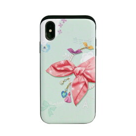 ROA ロア iPhone XS 5.8インチ用 Card slide Dot Scarf Pink Scaft