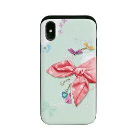 ROA ロア iPhone XS 5.8インチ用 Card slide Dot Scarf Pink Scaft