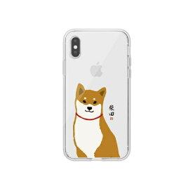 ROA ロア iPhone XS 5.8インチ用 しばたさんクリアケース おすわり
