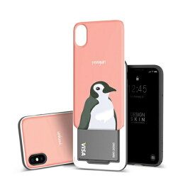 ROA ロア iPhone XS 5.8インチ用 SLIDER GRAPHIC Penguin