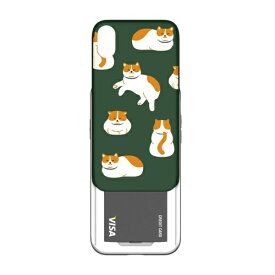 ROA ロア iPhone XS 5.8インチ用 SLIDER GRAPHIC KITTY CAT