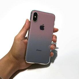 ROA ロア iPhone XS 5.8インチ用 ソフトクリアケース グラデーション