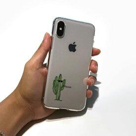 ROA ロア iPhone XS 5.8インチ用 ソフトクリアケース サボテン