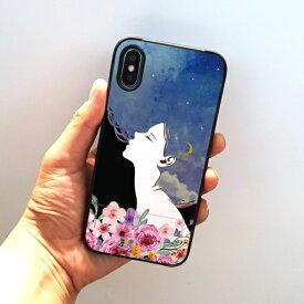 ROA ロア iPhone XS 5.8インチ用 spirit case フラワードリーム ブルー