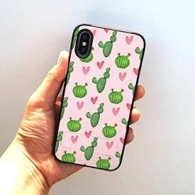 ROA ロア iPhone XS 5.8インチ用 spirit case まるまるサボテン ピンク
