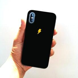 ROA ロア iPhone XS 5.8インチ用 ブラックケース カミナリ