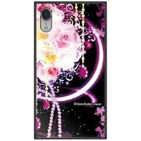 藤家 Fujiya iPhone XR 6.1 幻想デザイン ガラスハイブリッド H. 幻想ピンクローズ