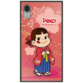 藤家 Fujiya iPhone XR 6.1 不二家 ガラスハイブリッド O. ペコ和柄ピンク