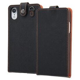 イングレム Ingrem iPhone XR 6.1インチモデル 手帳型ケース スナップボタン縦型 IN-P18LC1/B ブラック