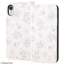 イングレム Ingrem iPhone XR 6.1インチモデル 『ディズニー・ピクサーキャラクター』/手帳型アートケース マグネット スリム IN-DP18MLC3/MI020 モンスターズ・インク_020