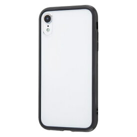 イングレム Ingrem iPhone XR 6.1インチモデル ハイブリッドバンパー+背面パネル (クリア) IN-P18HB/B ブラック