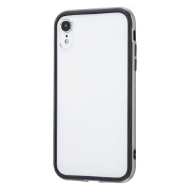 イングレム Ingrem iPhone XR 6.1インチモデル ハイブリッドバンパー+背面パネル (クリア) IN-P18HB/SV シルバー