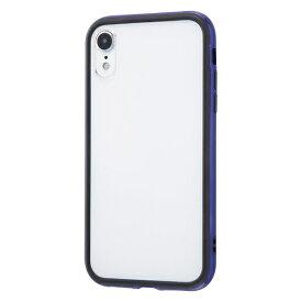 イングレム Ingrem iPhone XR 6.1インチモデル ハイブリッドバンパー+背面パネル (クリア) IN-P18HB/DN ダークネイビー