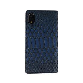 ROA ロア iPhone XR 6.1 Matt Python Diary ブルー