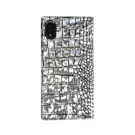 ROA ロア iPhone XR 6.1 Hologram Croco Diary