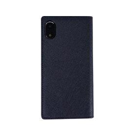 ROA ロア iPhone XR 6.1 Saffiano Flip Case クラシックネイビー