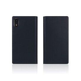 ROA ロア iPhone XR 6.1 Calf Skin Leather Diary ネイビー