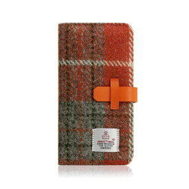 ROA ロア iPhone XR 6.1 Harris Tweed Diary オレンジ×グレー