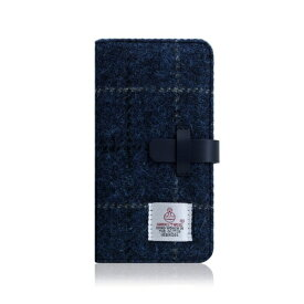 ROA ロア iPhone XR 6.1 Harris Tweed Diary ネイビー
