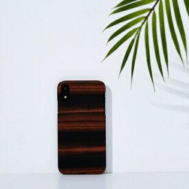 ROA ロア iPhone XR 6.1 天然木ケース Ebony