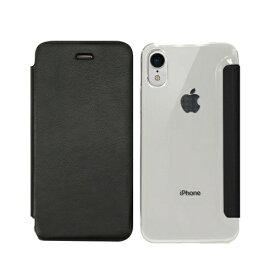 ROA ロア iPhone XR 6.1インチ用 Classic Clear Flip ブラック