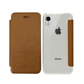ROA ロア iPhone XR 6.1インチ用 Classic Clear Flip ブラウン