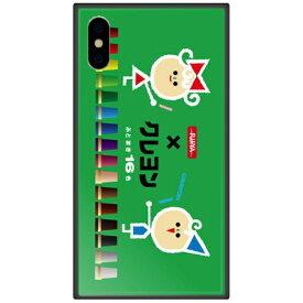 藤家 Fujiya iPhone XS Max 6.5インチ用 サクラクレパス ガラスハイブリッド C. デザインC