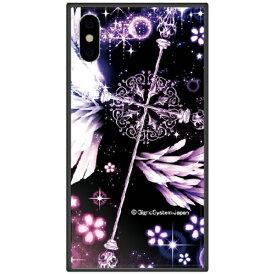 藤家 Fujiya iPhone XS Max 6.5インチ用 幻想デザイン ガラスハイブリッド C. クロス