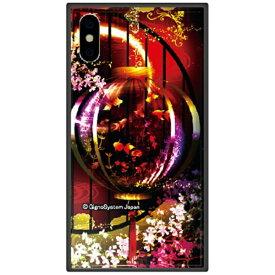 藤家 Fujiya iPhone XS Max 6.5インチ用 幻想デザイン ガラスハイブリッド G. 金魚