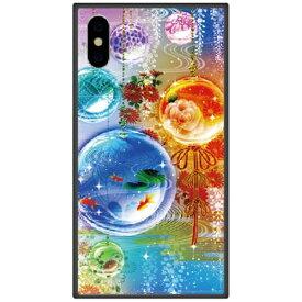 藤家 Fujiya iPhone XS Max 6.5インチ用 幻想デザイン ガラスハイブリッド M. 硝子玉