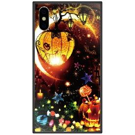 藤家 Fujiya iPhone XS Max 6.5インチ用 幻想デザイン ガラスハイブリッド N. マジカルハロウィン