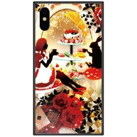 藤家 Fujiya iPhone XS Max 6.5インチ用 幻想デザイン ガラスハイブリッド U .アリスのティーパーティ