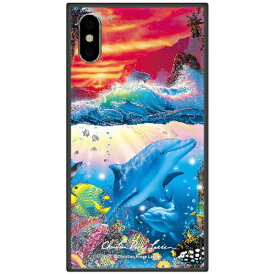 藤家 Fujiya iPhone XS Max 6.5インチ用 ラッセン ガラスハイブリッド C. SHANGRI-LA-SUNSET