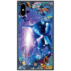 藤家 Fujiya iPhone XS Max 6.5インチ用 ラッセン ガラスハイブリッド D. BRILLIANT PASSAGE