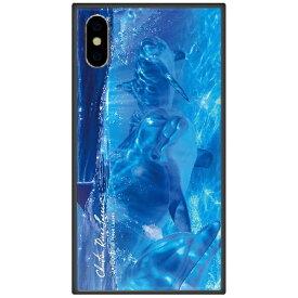 藤家 Fujiya iPhone XS Max 6.5インチ用 ラッセン ガラスハイブリッド B. OCEAN ANGELS II