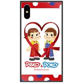 藤家 Fujiya iPhone XS Max 6.5インチ用 不二家 ガラスハイブリッド D. ペコandポコ