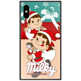 藤家 Fujiya iPhone XS Max 6.5インチ用 不二家 ガラスハイブリッド E. ミルキークリスマス