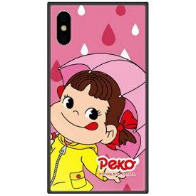 藤家 Fujiya iPhone XS Max 6.5インチ用 不二家 ガラスハイブリッド L. レイニーペコ